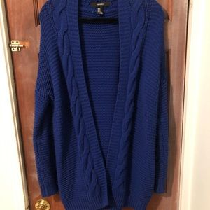 Royal blue cardigan from F21. No flaws or defects